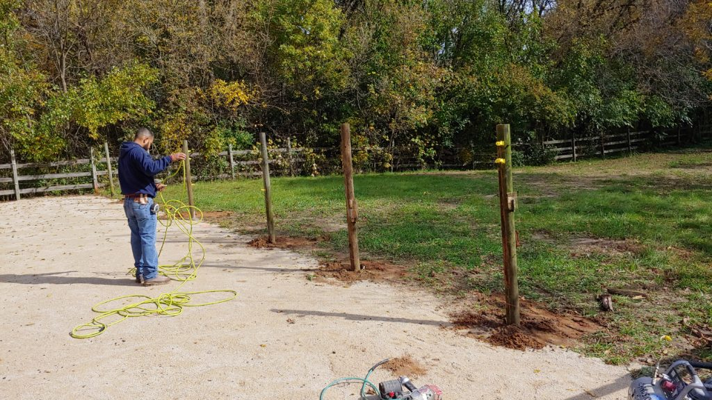 Working on the Fence